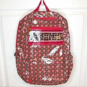 Adorable Frill Vera Bradley Pink Back Pack AA